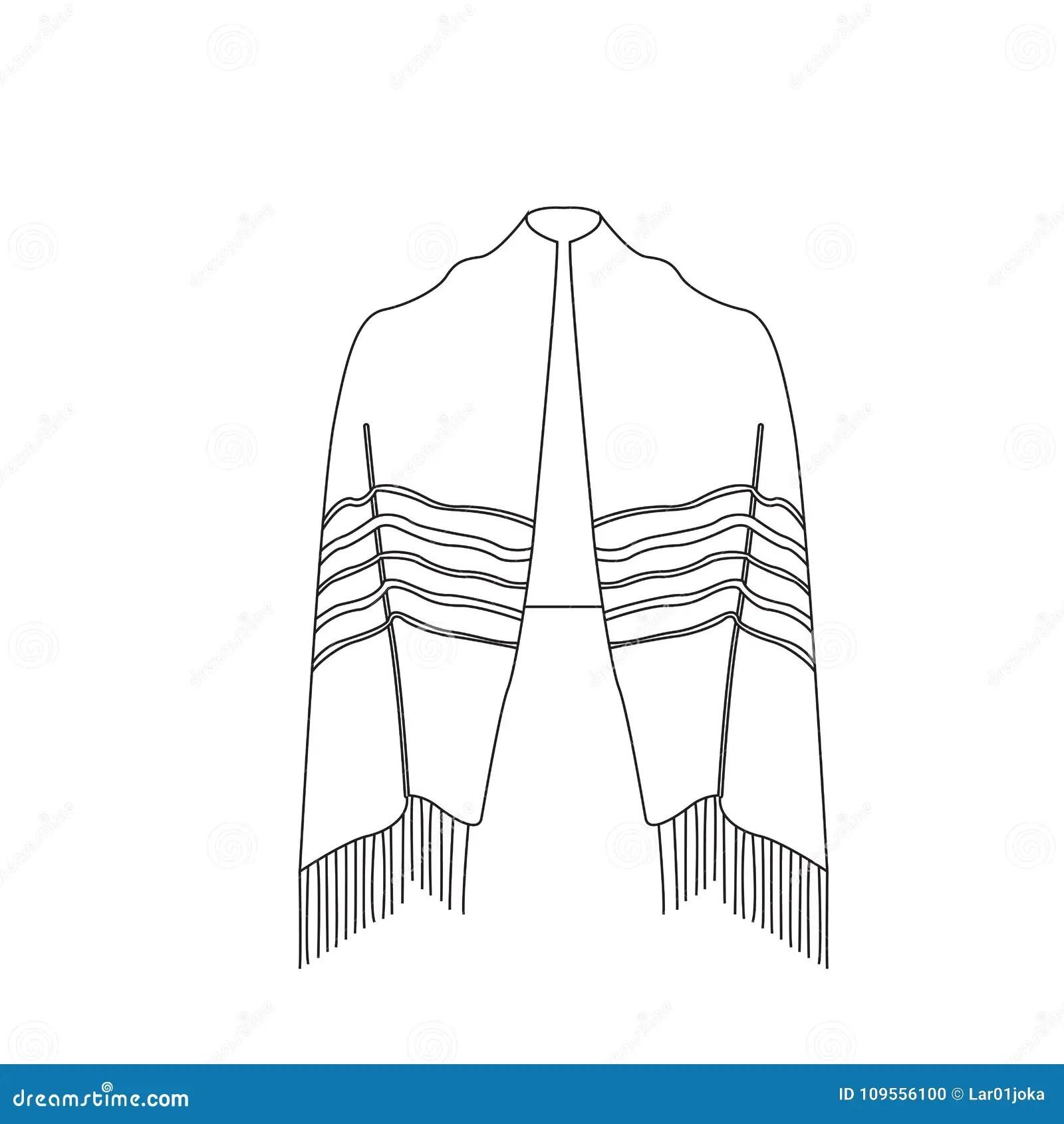 Jewish Tallit Icon Vector Illustration