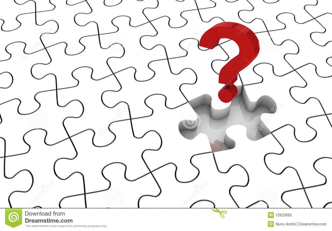 Jigsaw Puzzle Missing Piece Stock Illustration
