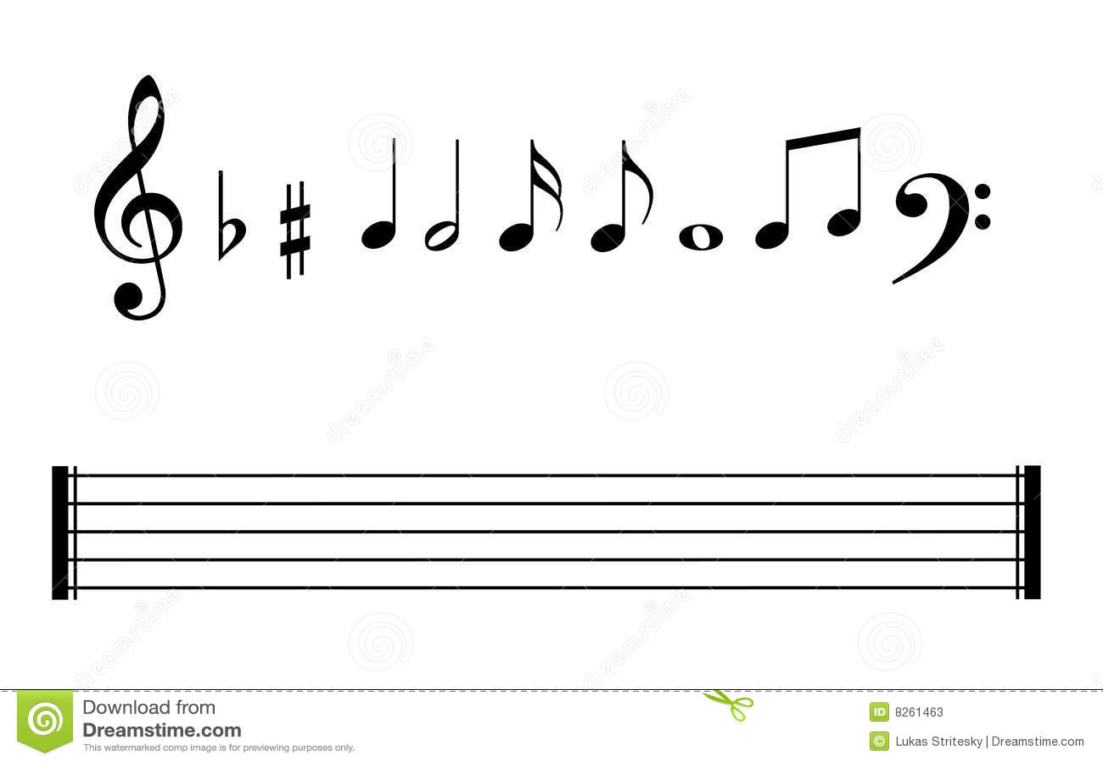 Jogo De Staves Das Notas Musicais E De Linhas Da Nota