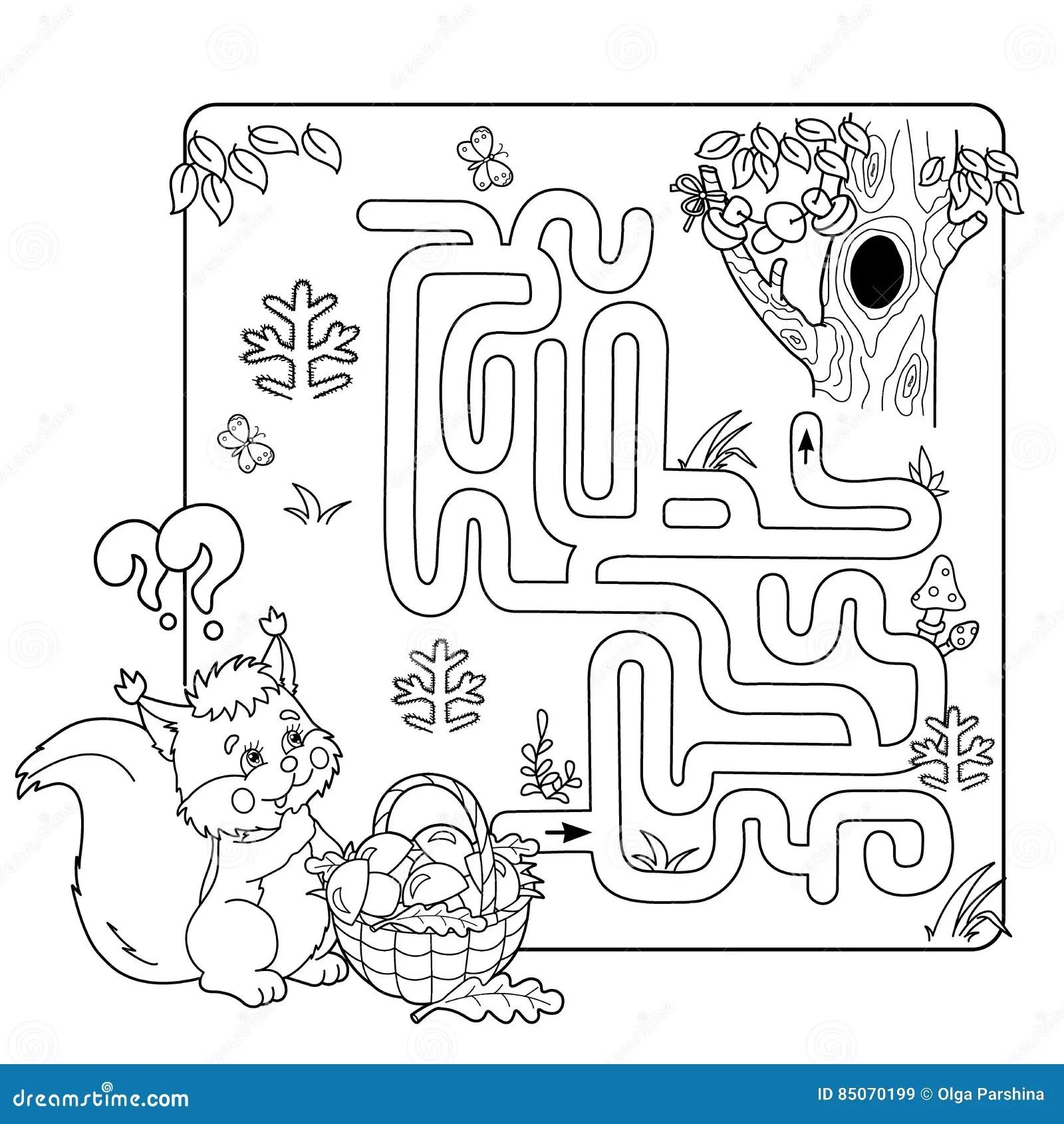 Jogo Do Labirinto Ou Do Labirinto Para Criancas Prees