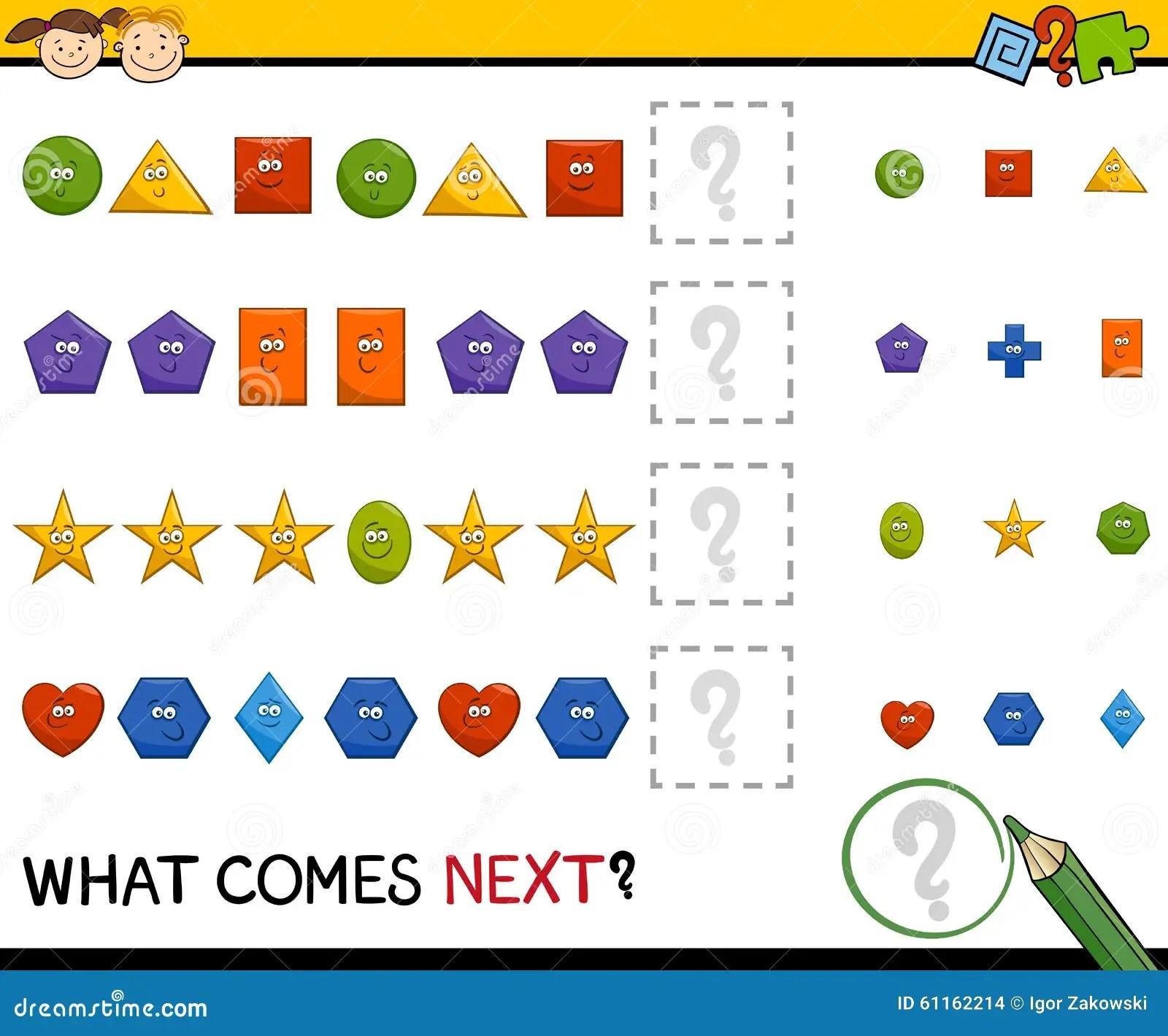Jogo Pre Escolar Do Teste Padrao Com Formas Ilustracao Do