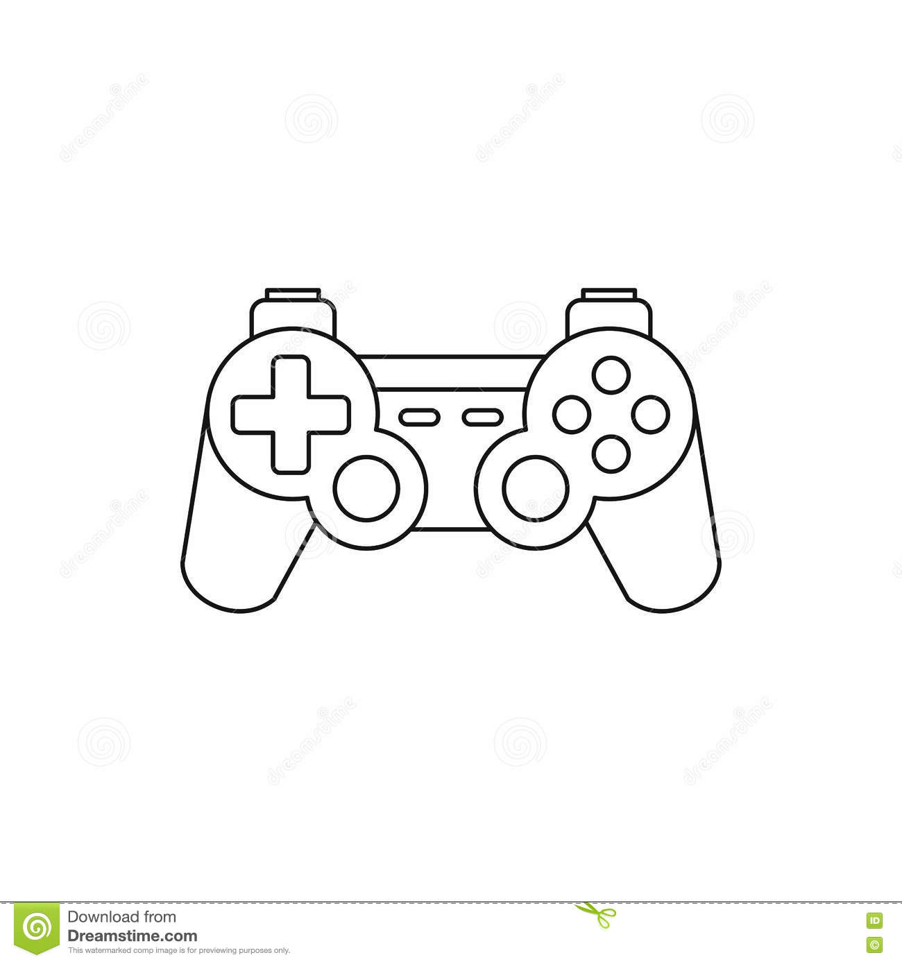 Joystick For Gaming Console Icon Outline Style Stock
