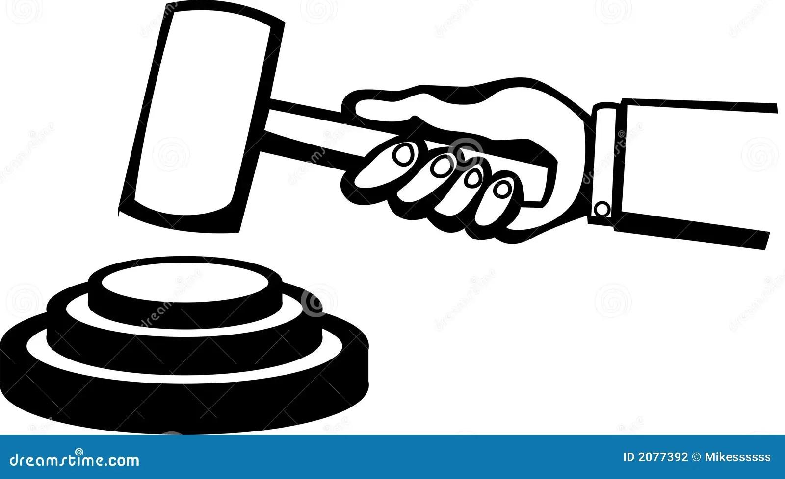 Judge Or Auction Hammer Vector Illustration Stock Vector