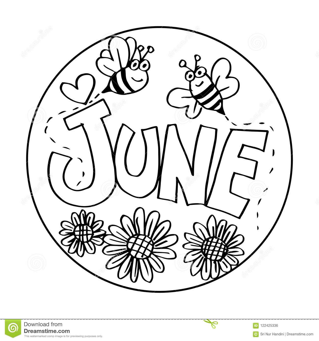 June Printables Coloring Pages