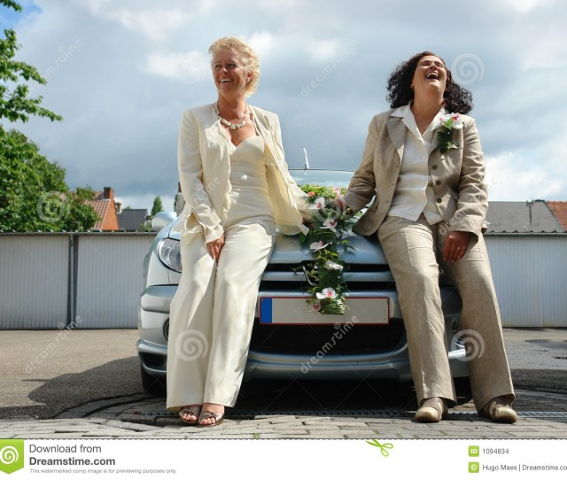 Just Married Mature Lesbian Couple