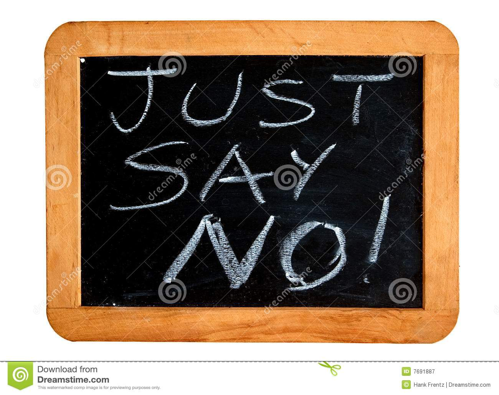 Just Say No Stock Image Image Of Medication Education