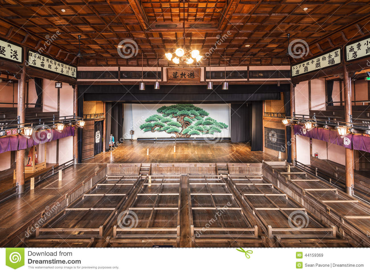 Kabuki Theater Stage Editorial Stock Image