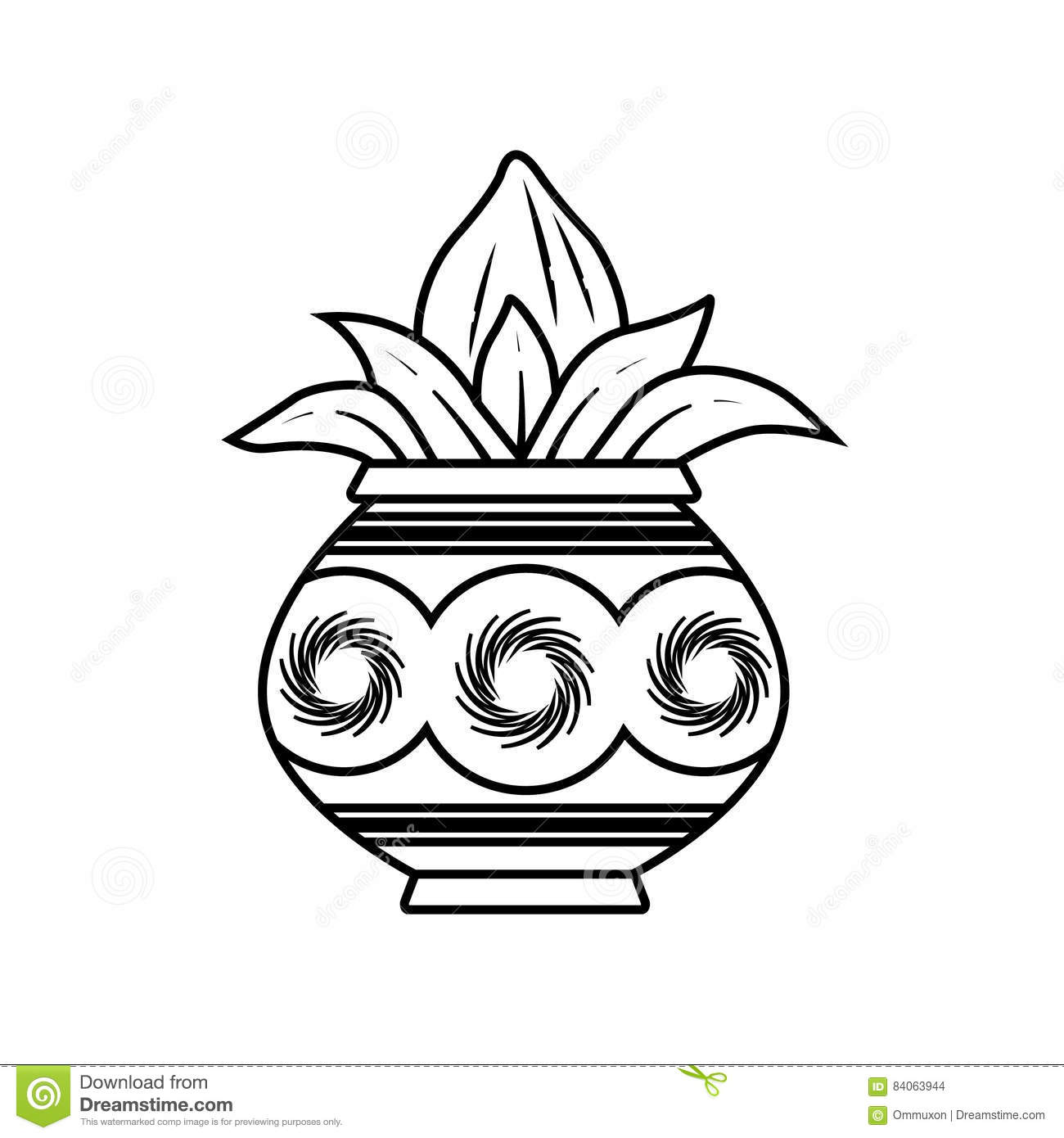 Kalash Stock Vector Image Of Coconut Kalash Beautiful