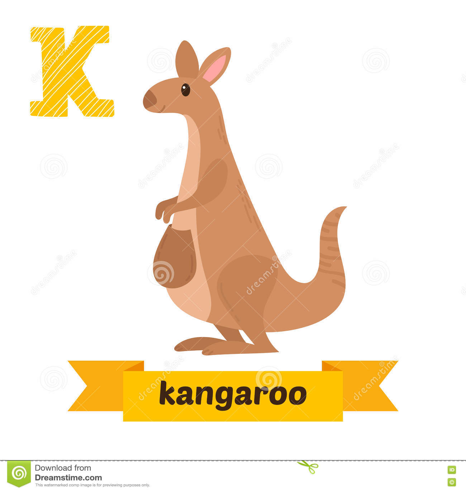 Kangaroo Vector Logo Lettering Vector Illustration