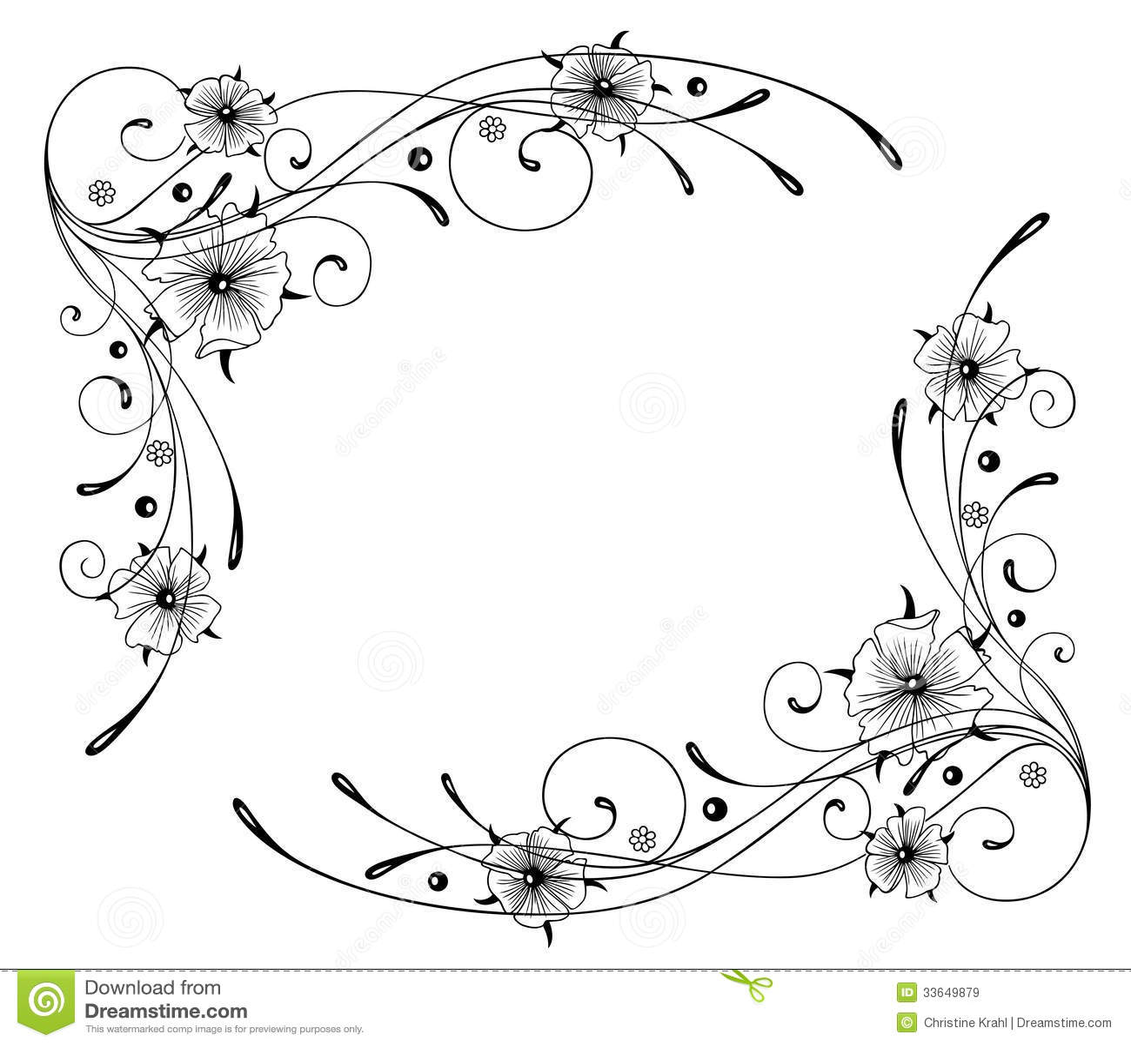 Kapuzinerkase Blumen Rahmen Lizenzfreie Stockbilder