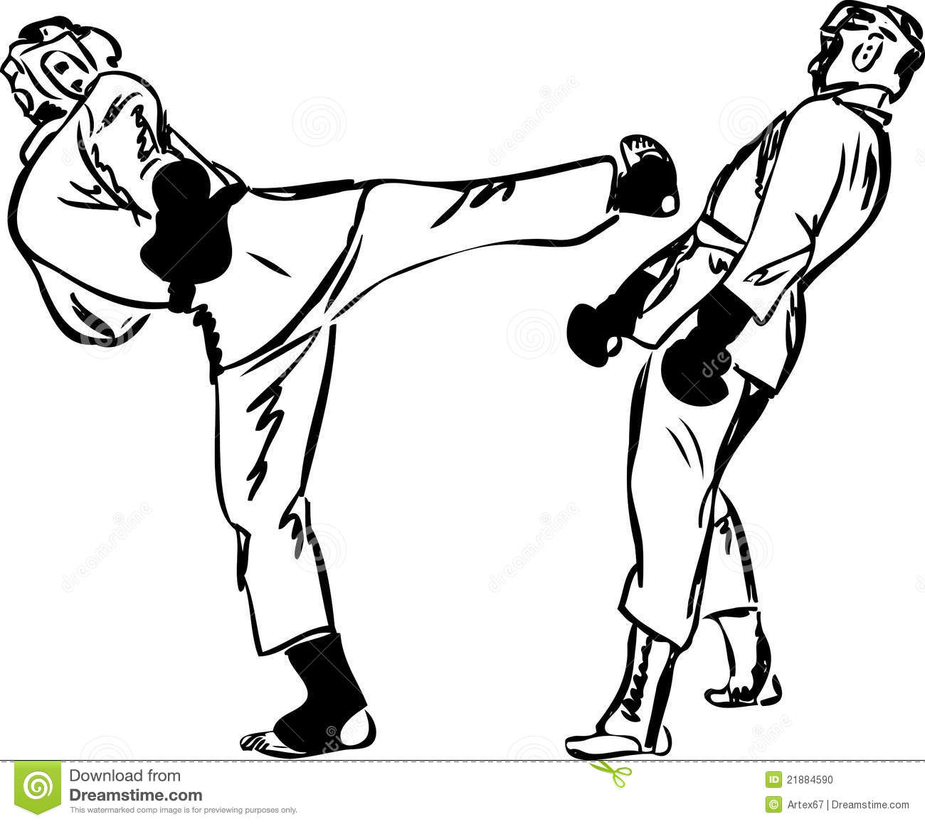 Karate Kyokushinkai Martial Arts Sports Stock Photo
