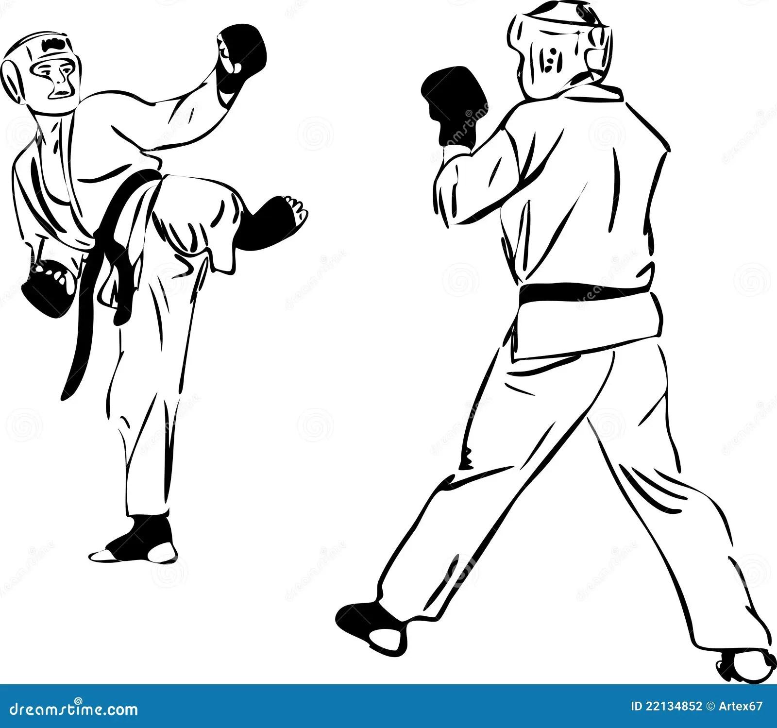 Karate Kyokushinkai Martial Arts Sports Vector