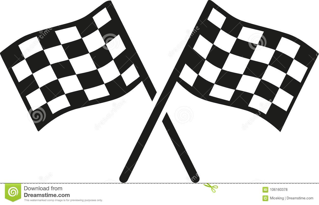 Kartracing Goal Flags Stock Vector Illustration Of Flags