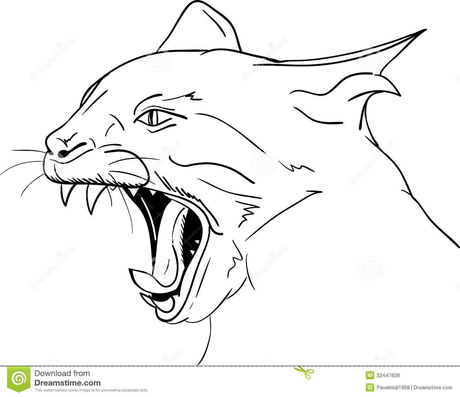 Kattenhoofd Vector Illustratie Illustratie Bestaande Uit
