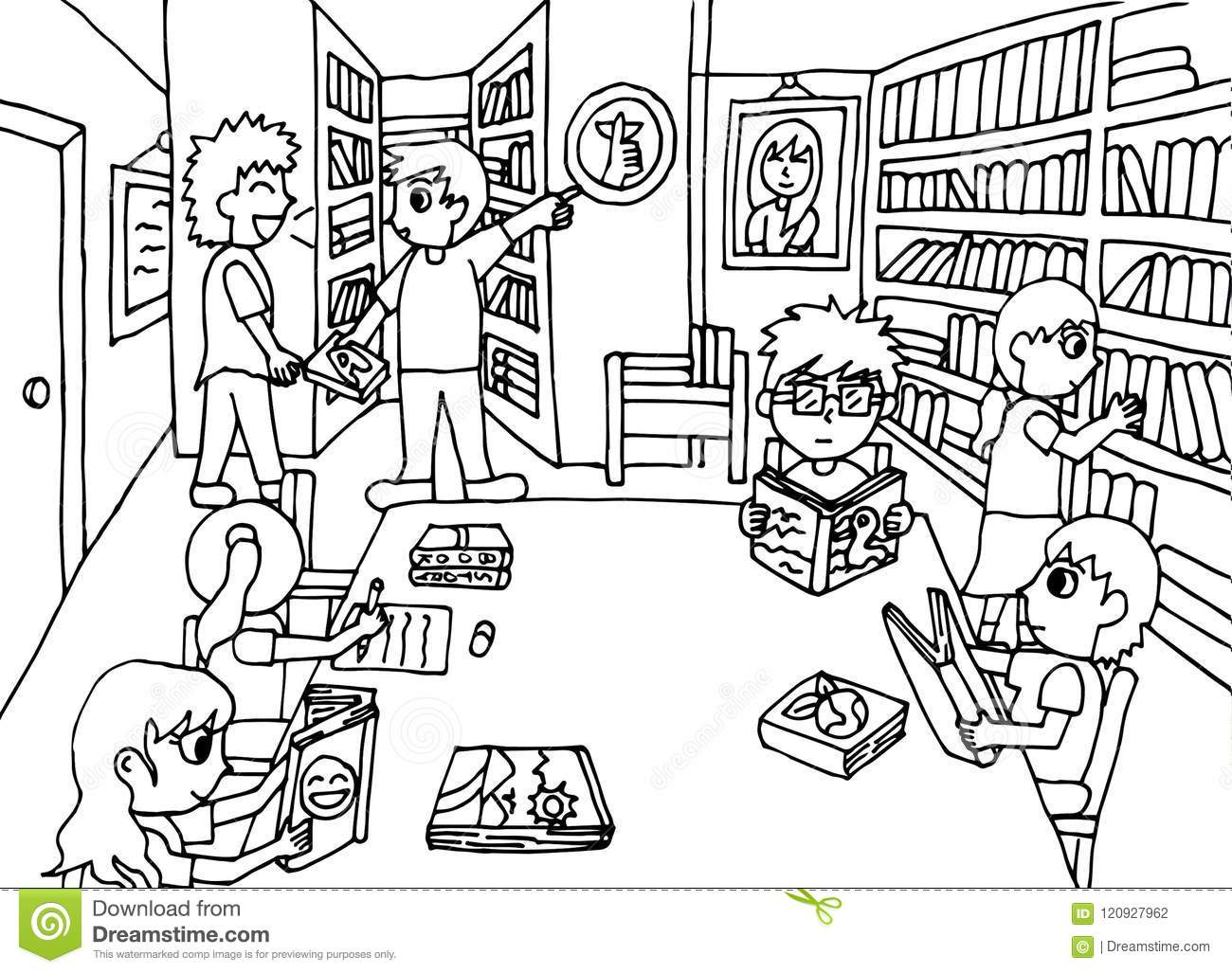 Invaluable Library Coloring Page