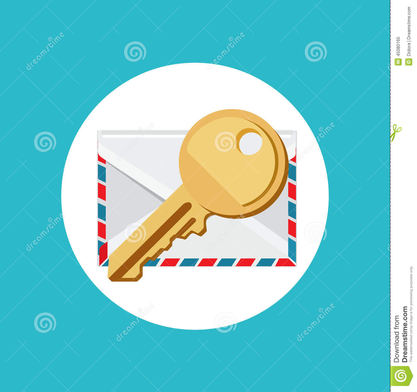 Envelope Flat Design Vector Icon Vector Illustration