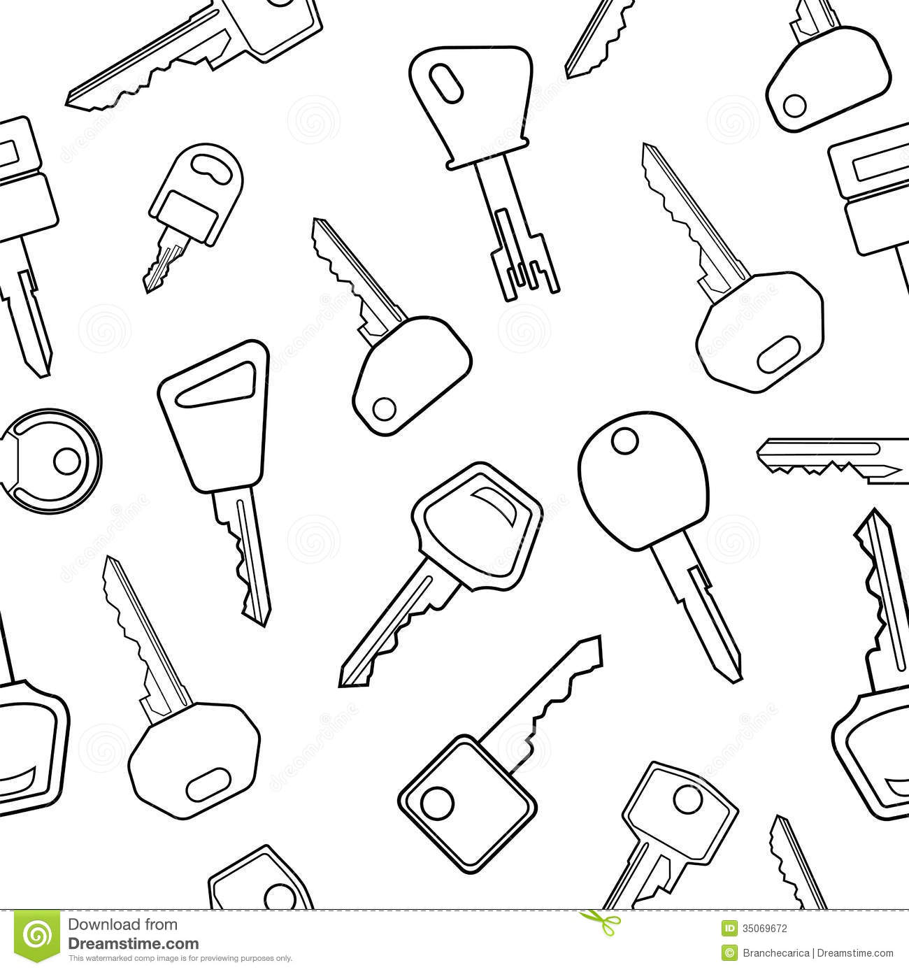 Key Pattern Stock Vector Image Of Classic Illustration