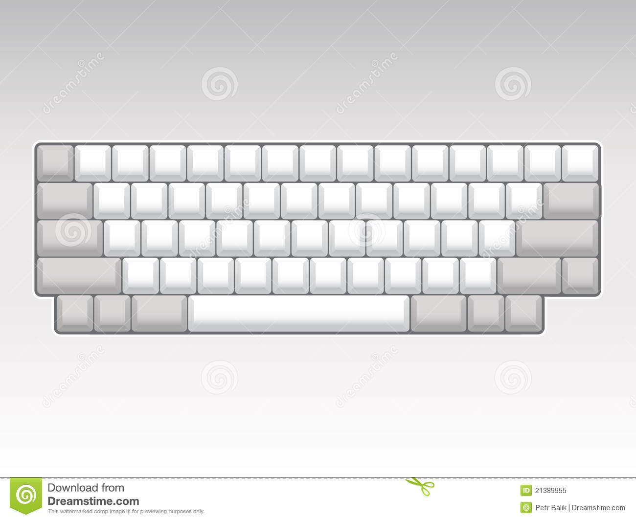 Keyboard Layout Royalty Free Stock Photo