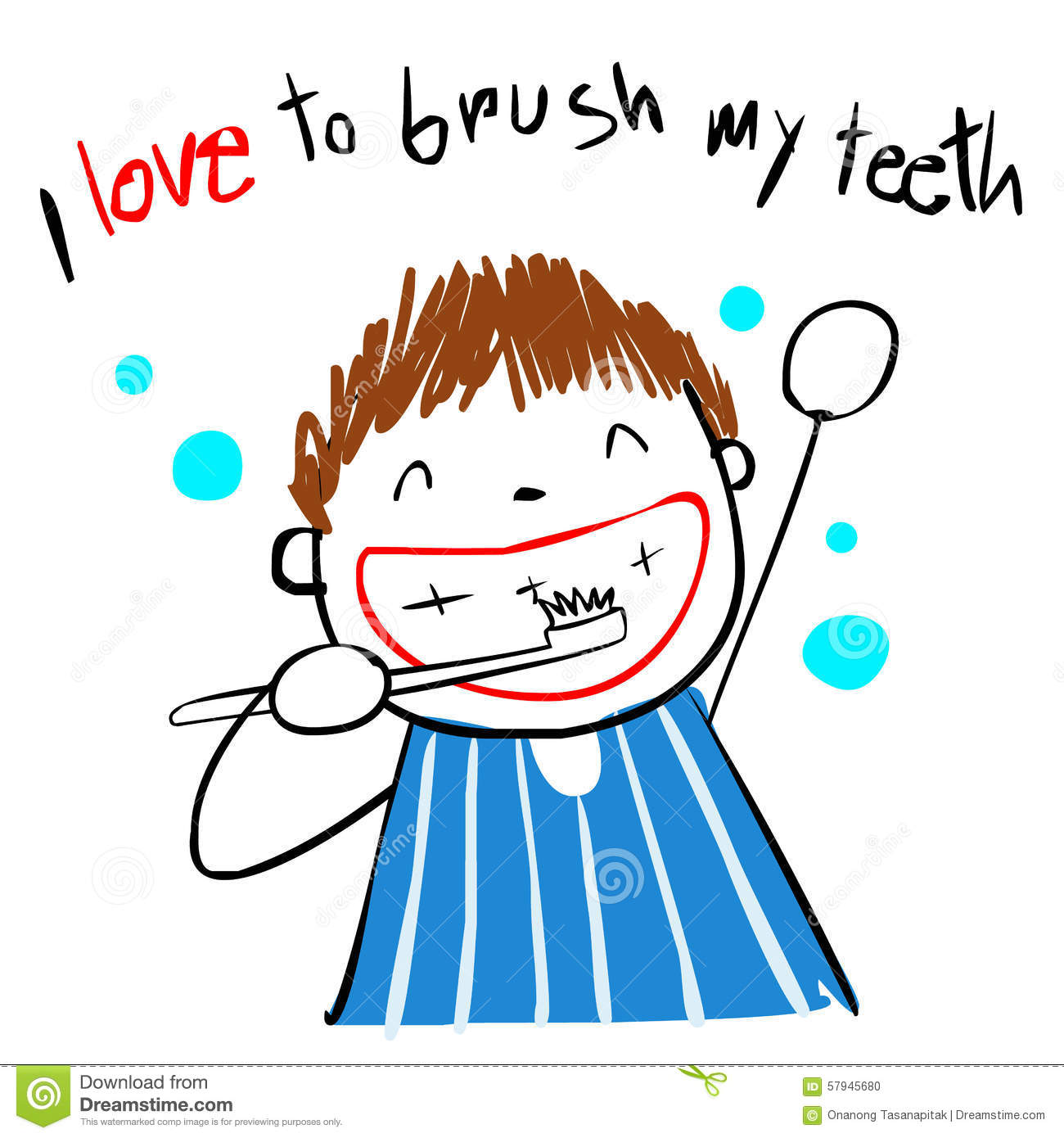 Drawing Brush Your Teeth