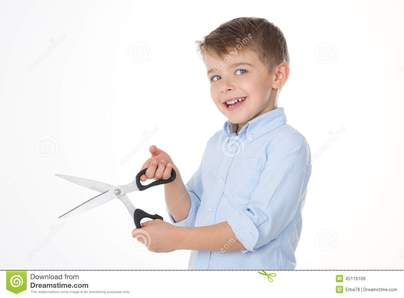 Kid With Scissors Stock Image Image Of Clever Creative