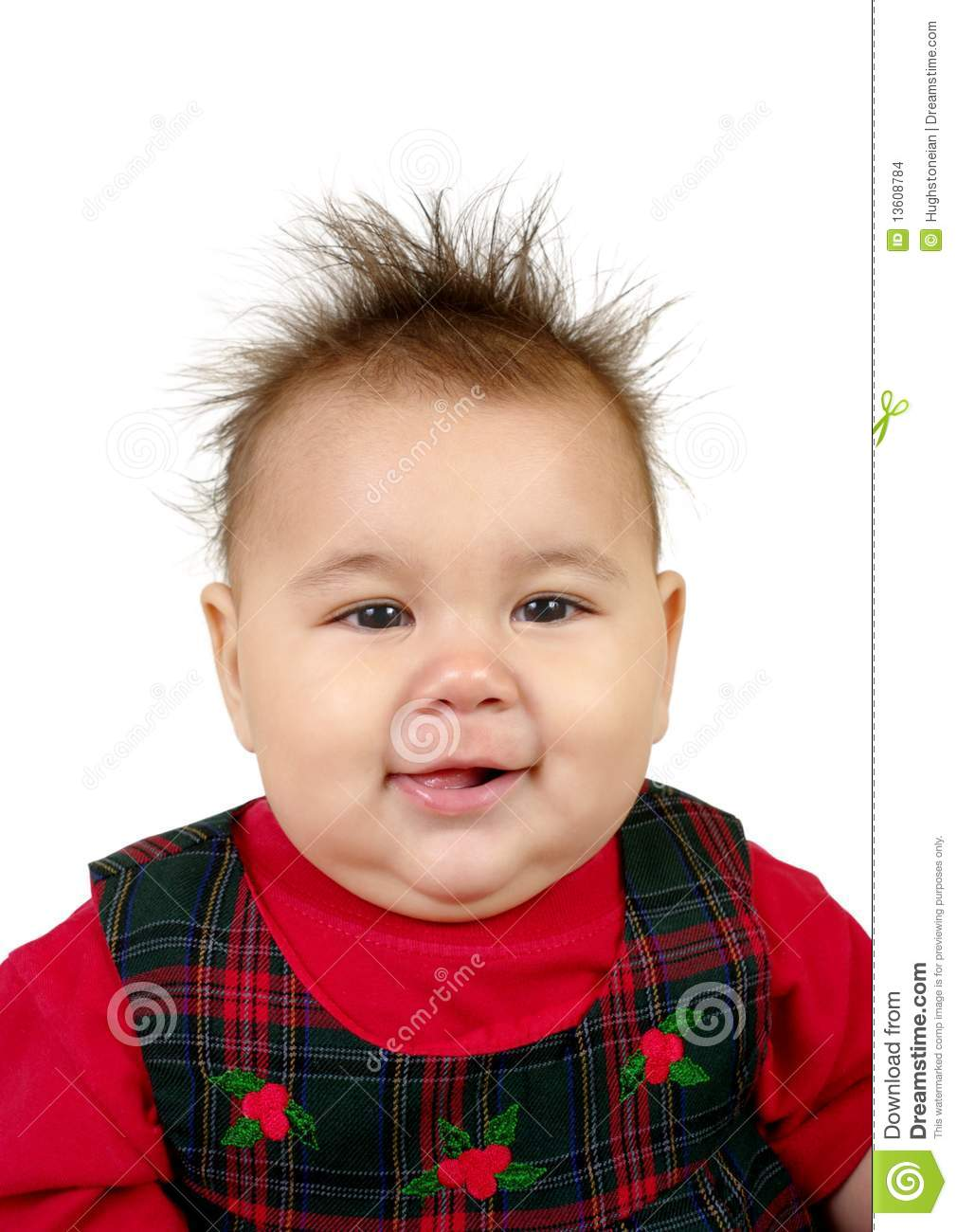 Kid With Spiky Hair Stock Photo Image Of Holiday Funny