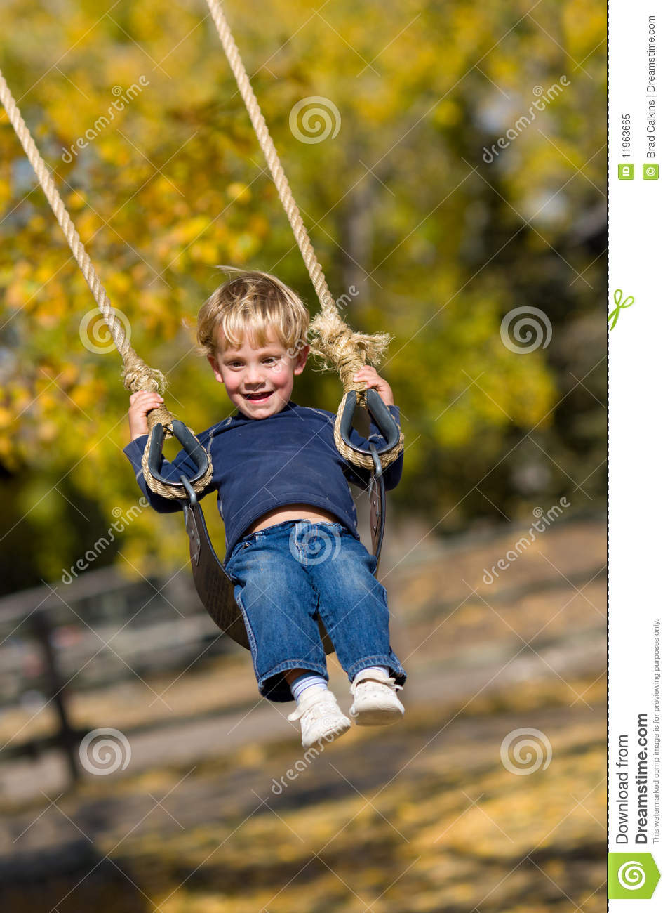 Kid On Swing Royalty Free Stock Photo Image 11963665