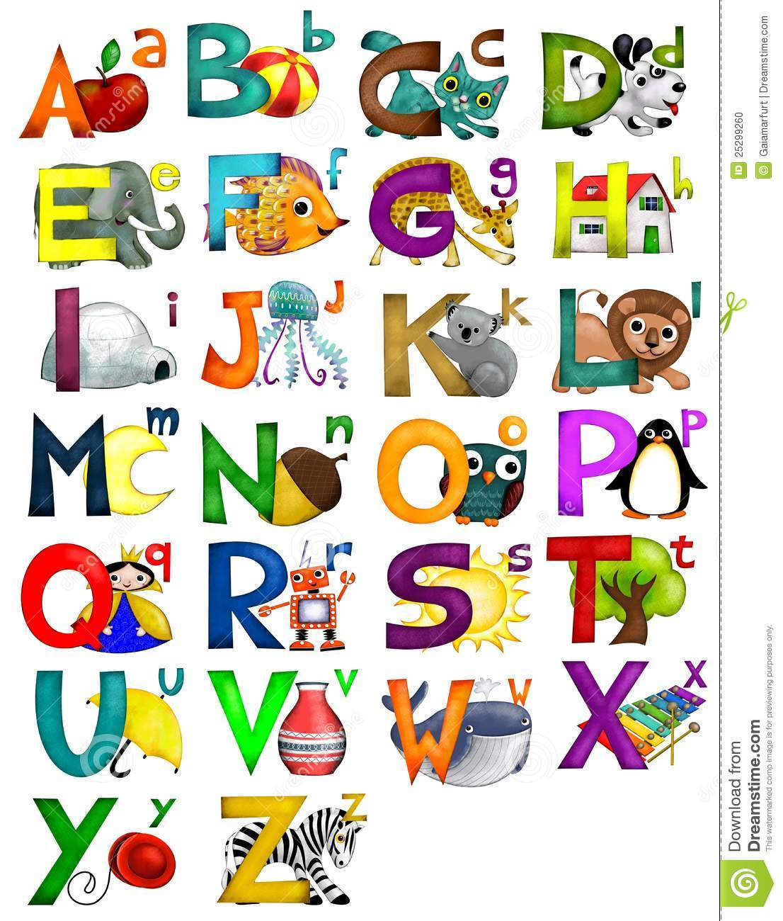 Kids Alphabet Stock Illustration Illustration Of Nursery