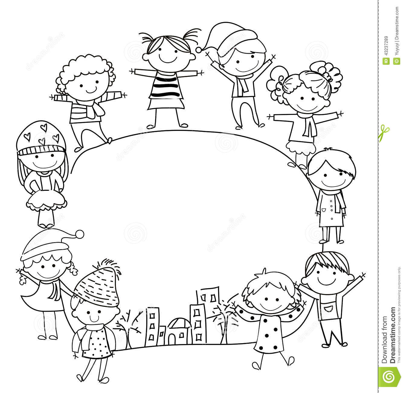 Kids And Frame Stock Vector Illustration Of Baby Face