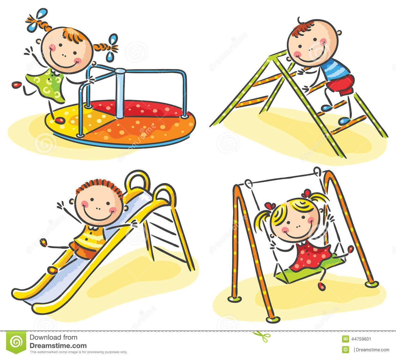 Kids On Playground Stock Vector