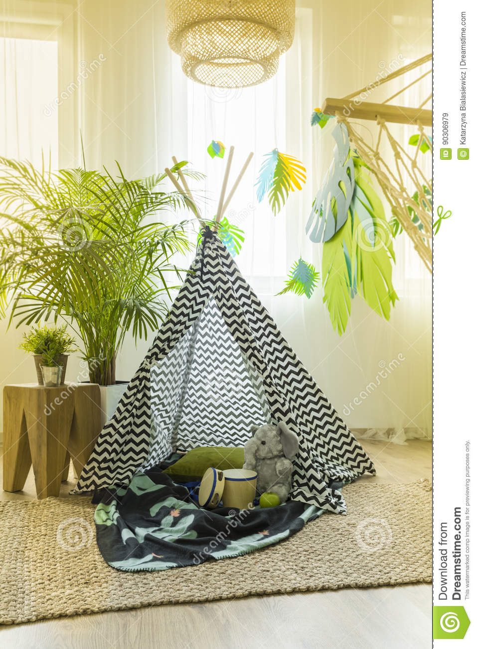 Kids Room With Tent Stock Image Image Of Lifestyle House 90306979