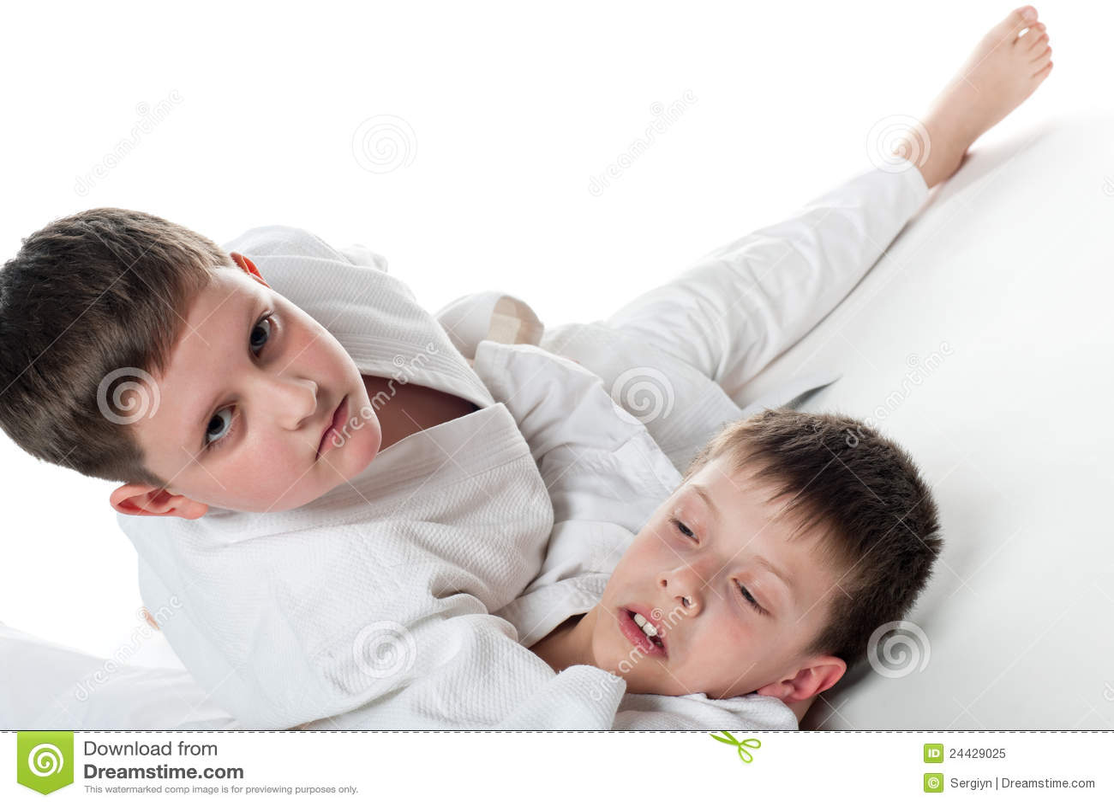 Kids Wrestling Royalty Free Stock Photo