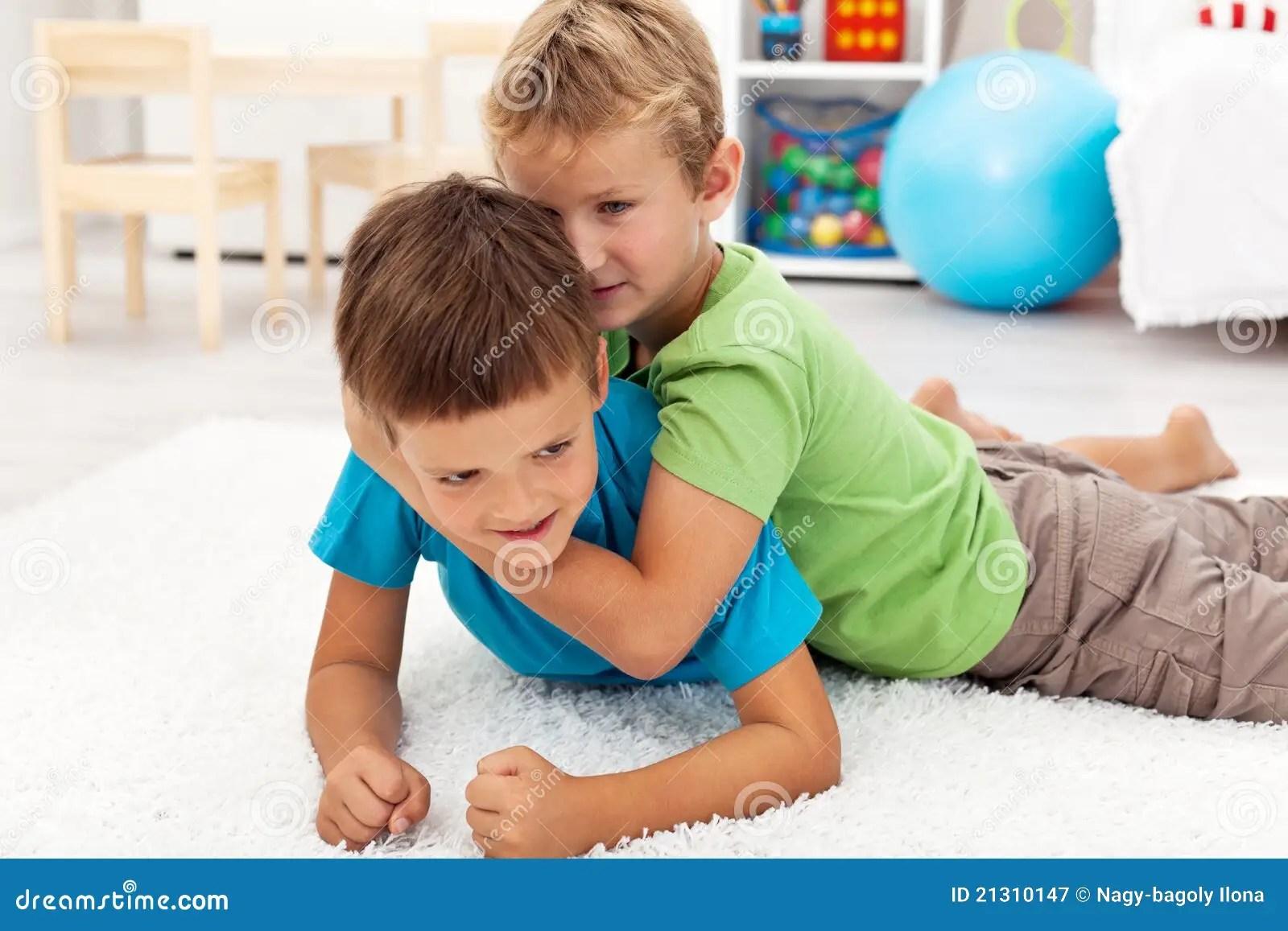 Kids Wrestling Stock Images