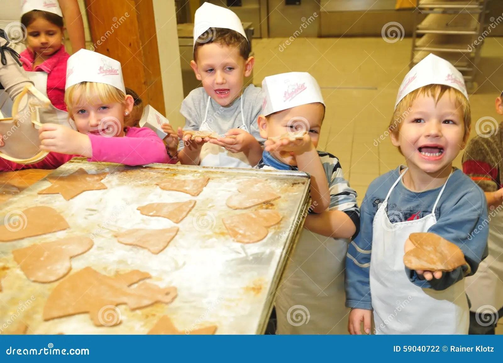 Kindergarten Christmas Cookies Editorial Photography