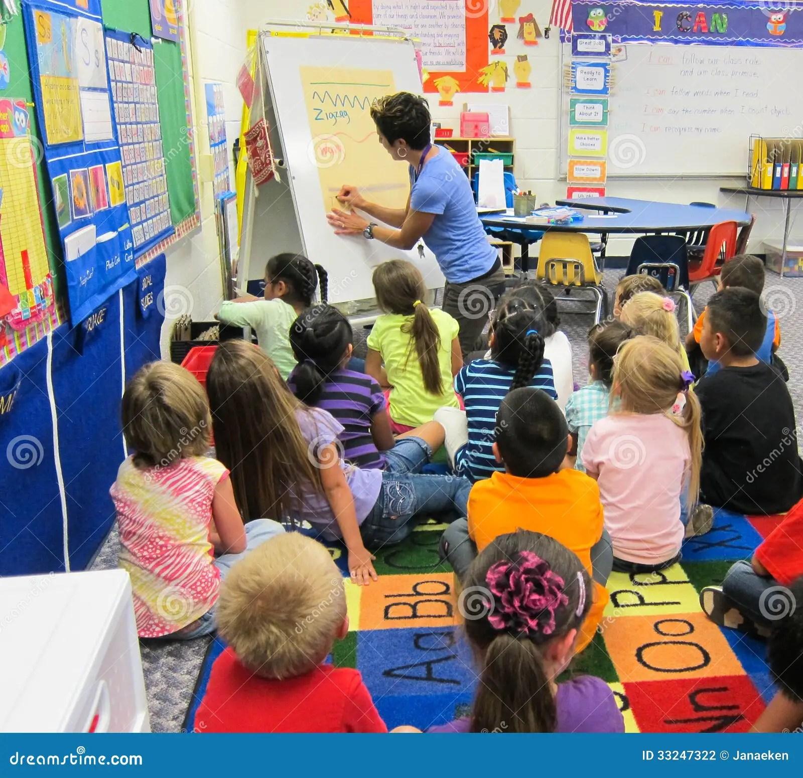 Kindergarten Classroom Editorial Photography