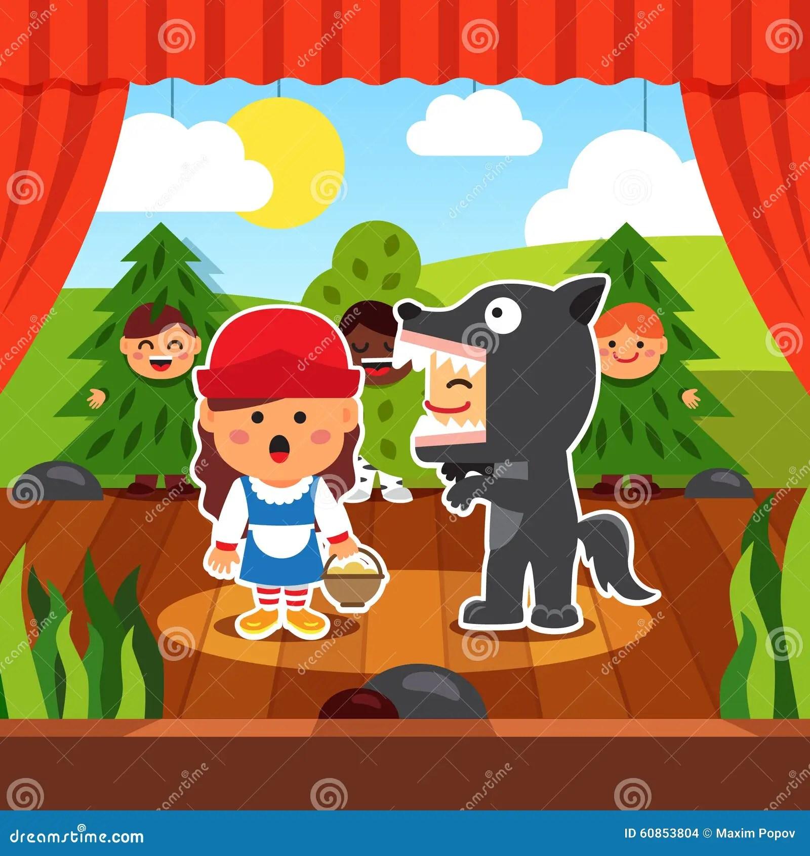 Kindergarten Theatre Play Stock Vector Image Of Boards
