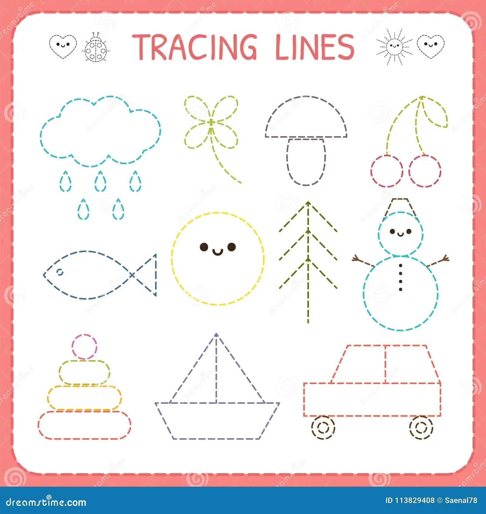 Kindergartens Educational Game For Kids Preschool Tracing