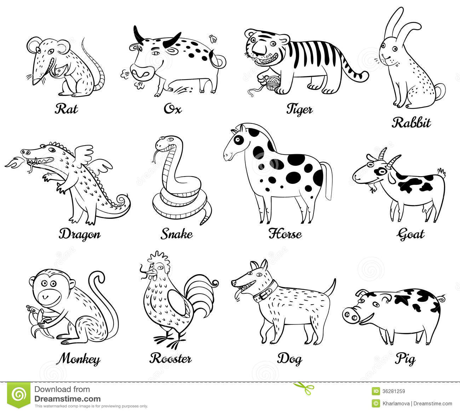 Kinesisk Astrologi Vektor Illustrationer Illustration Av