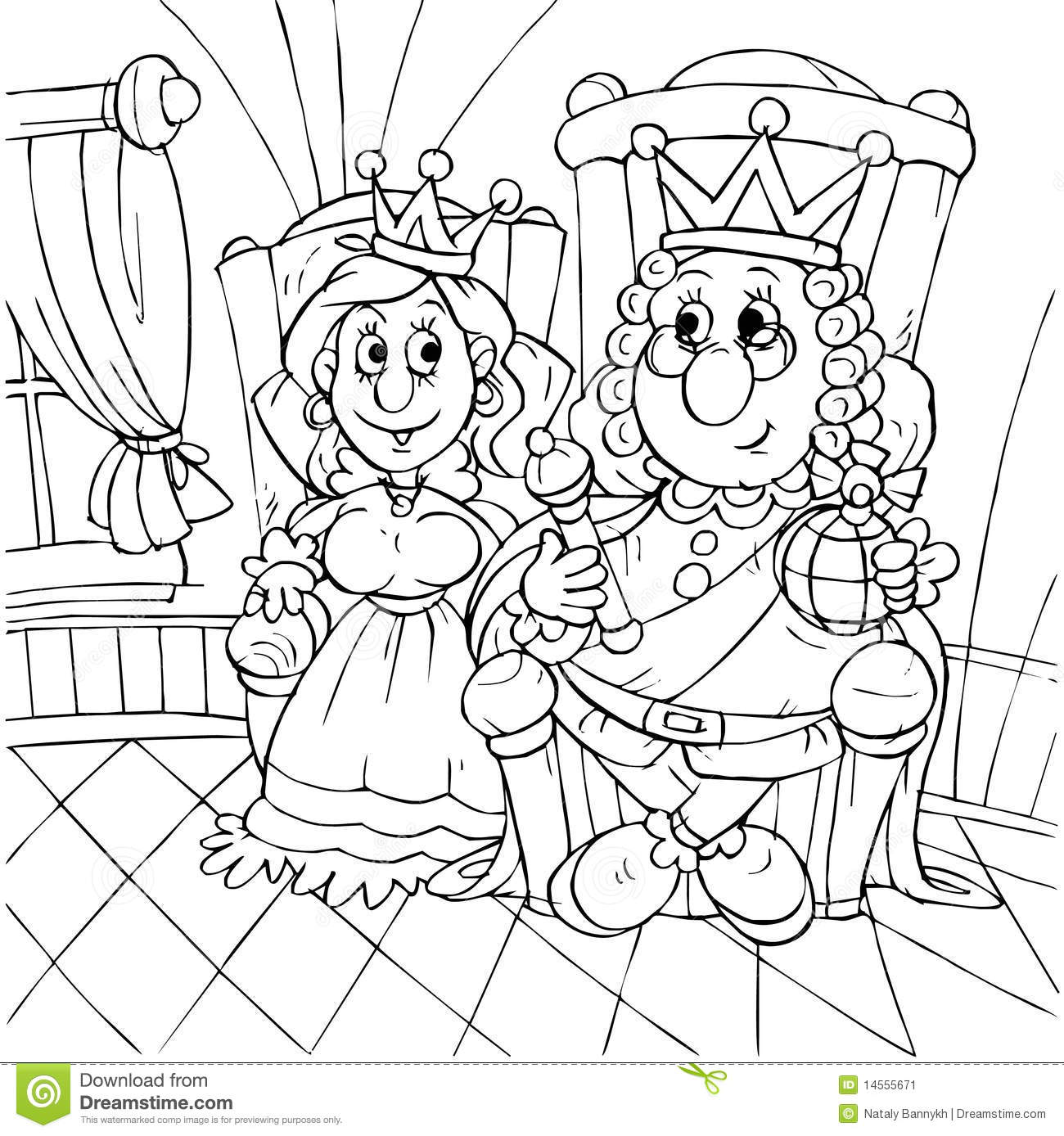 King And Princess Stock Illustration Illustration Of