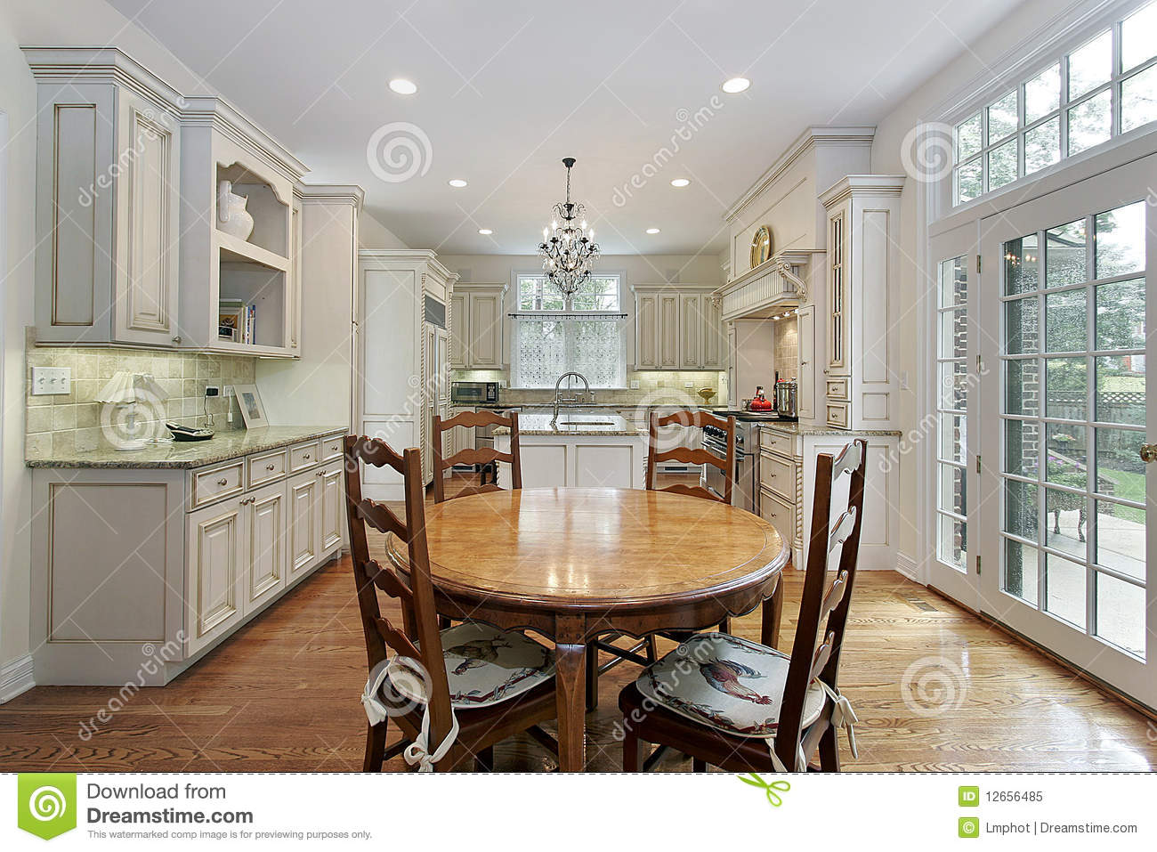 Kitchen With Island And Eating Area Royalty Free Stock Photo Image 12656485