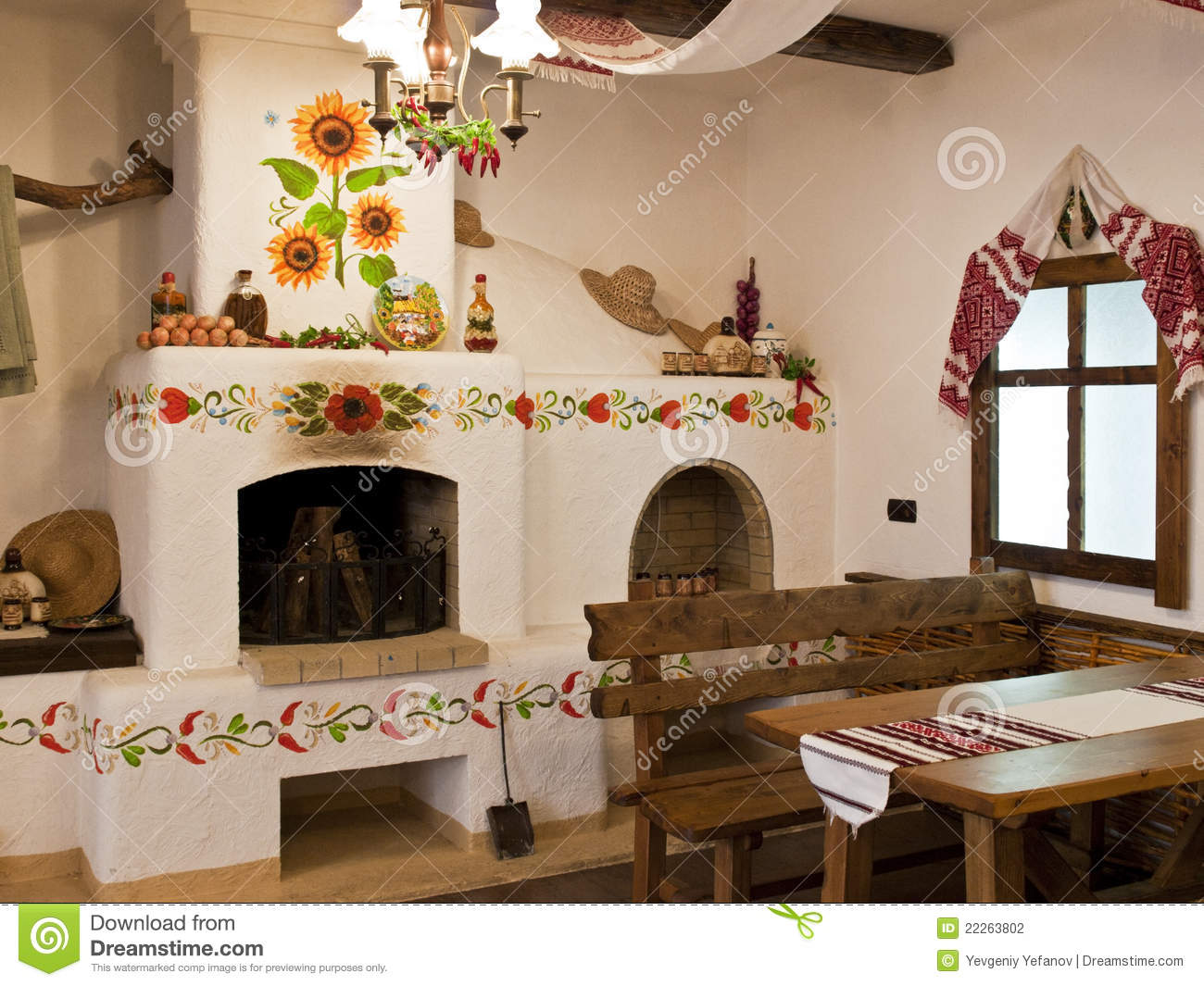The Kitchen In The Old Slavic Style Stock Photo Image 22263802