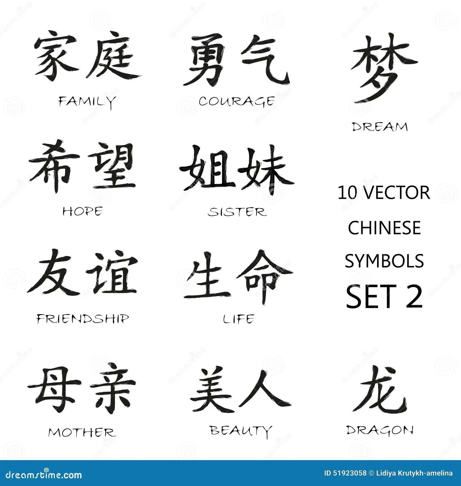 Klassisk Kinesisk Fargpulversymboluppsattning 2 Vektor
