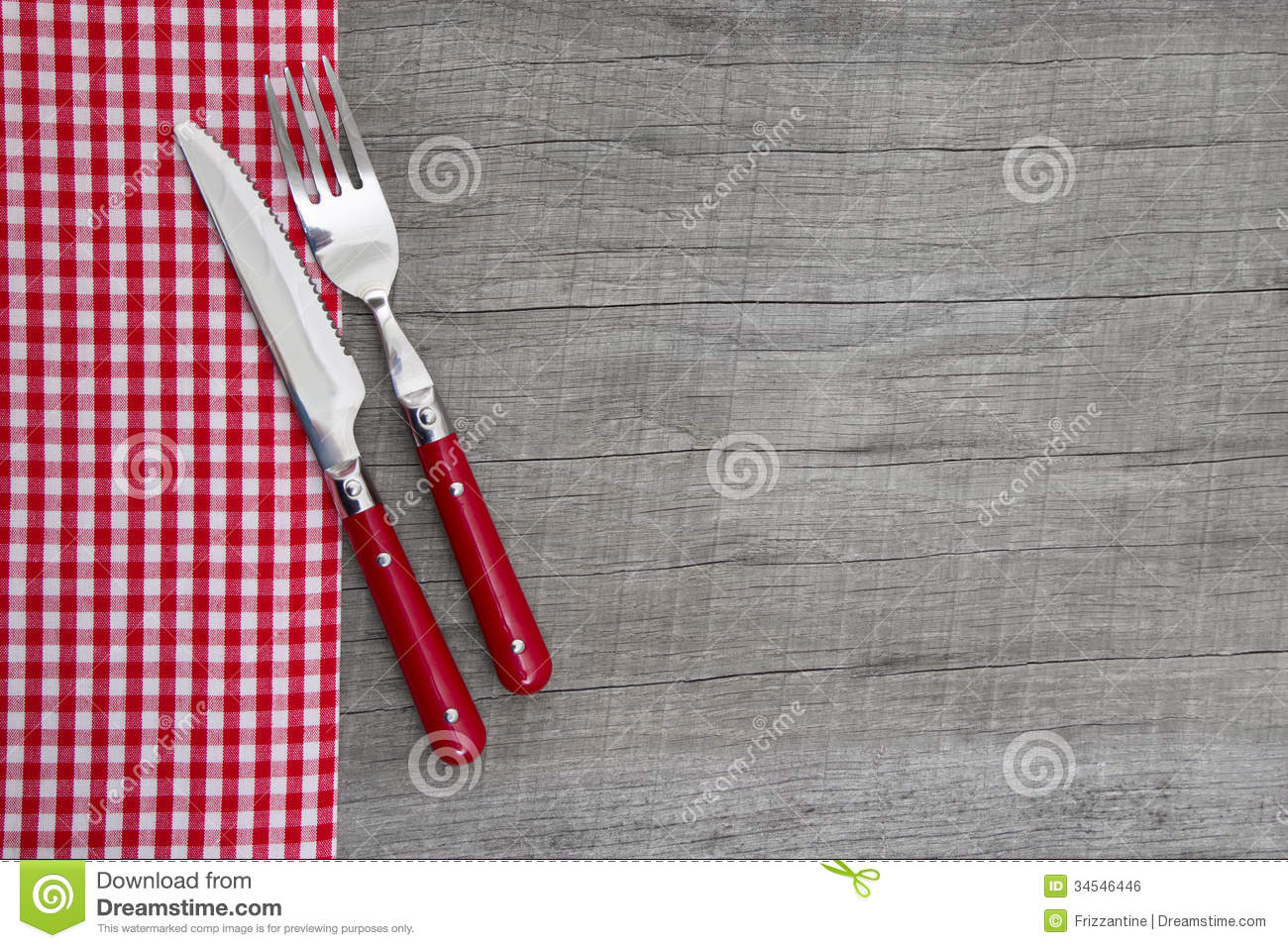 Knife And Fork Bavarian Country Style Table Decoration