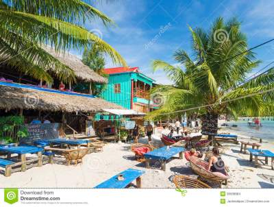 Koh Rong Island Beach Bars In Cambodia Editorial Stock ...