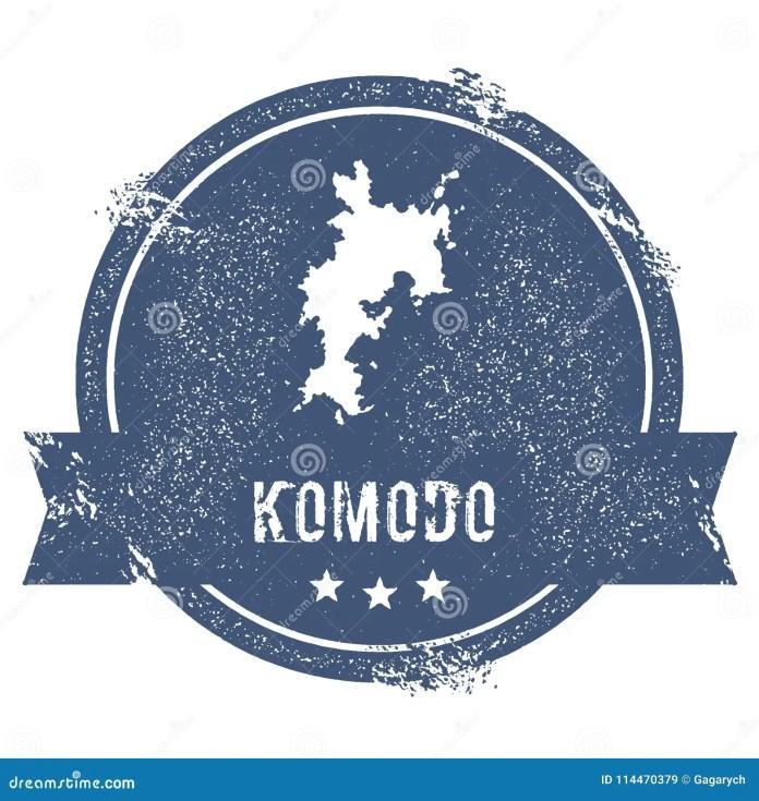 Komodo logo sign. stock vector. Illustration of indo ...