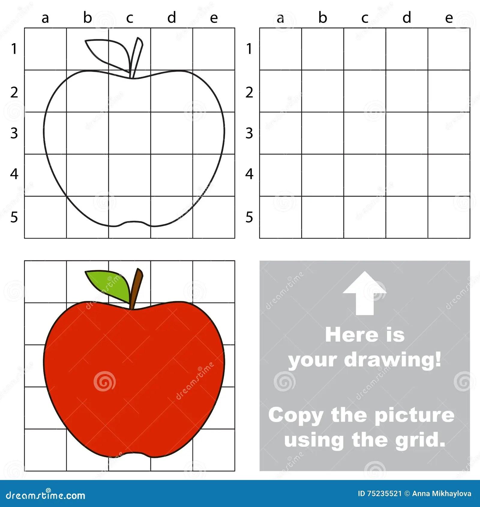 Kopieren Sie Das Bild Unter Verwendung Des Gitters Apple