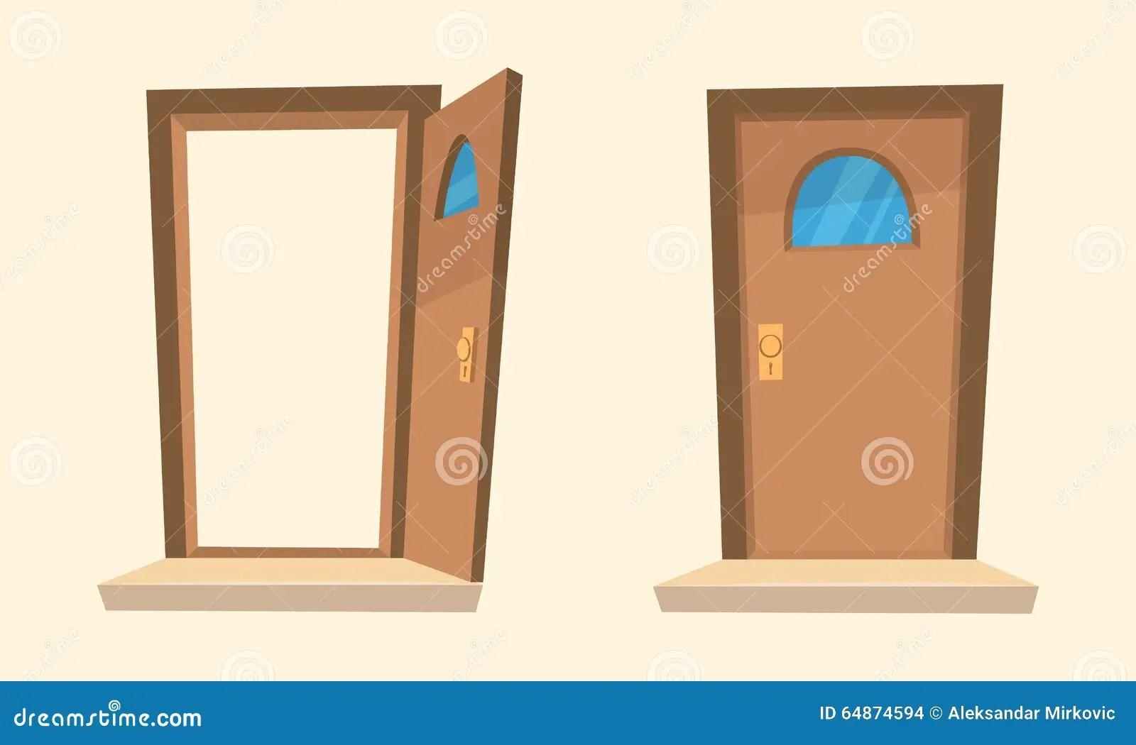 Kreskowek Drzwi Ilustracja Wektor Ilustracja Z O Onej Z