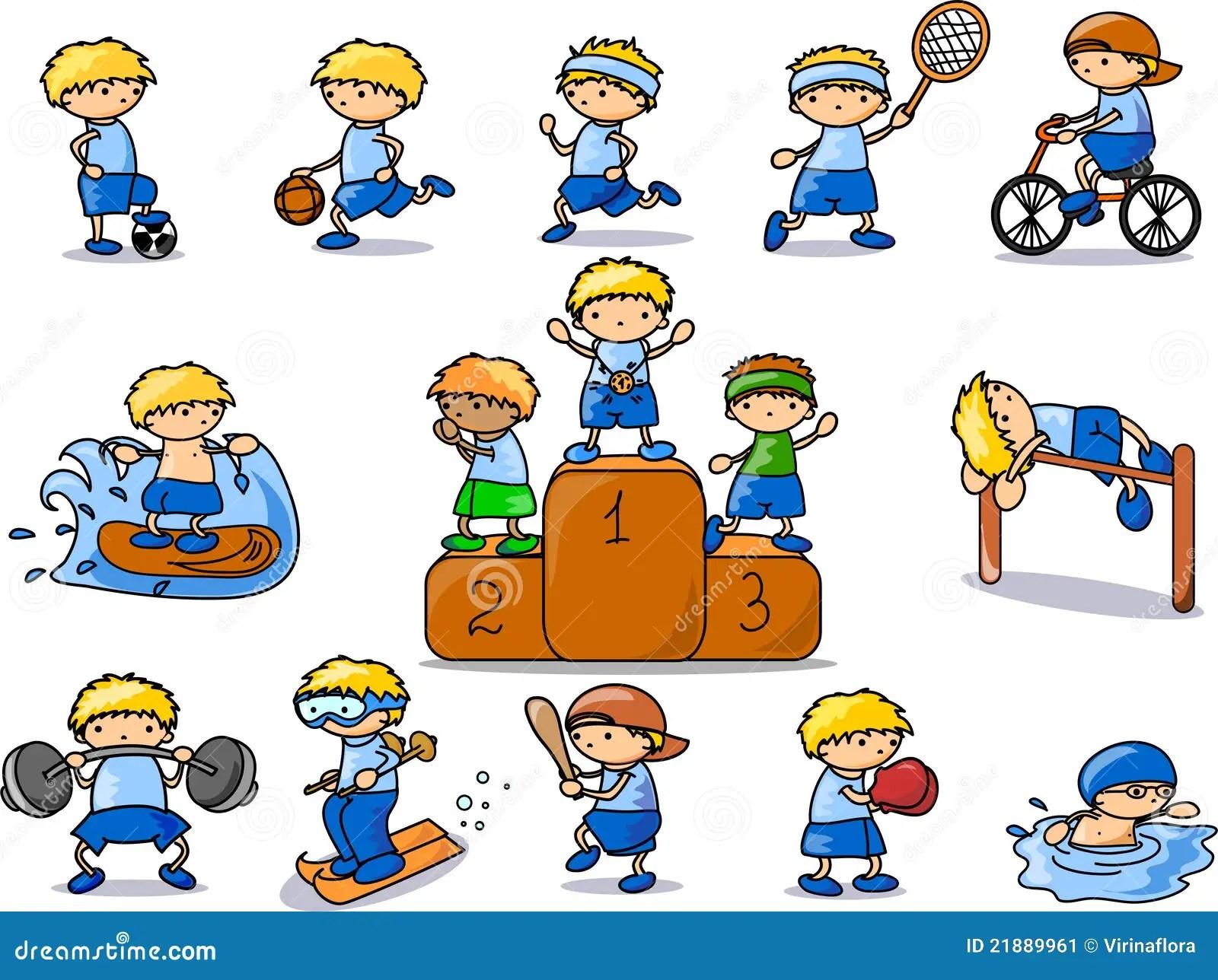 Kreskowki Ikony Sporta Wektor Ilustracja Wektor
