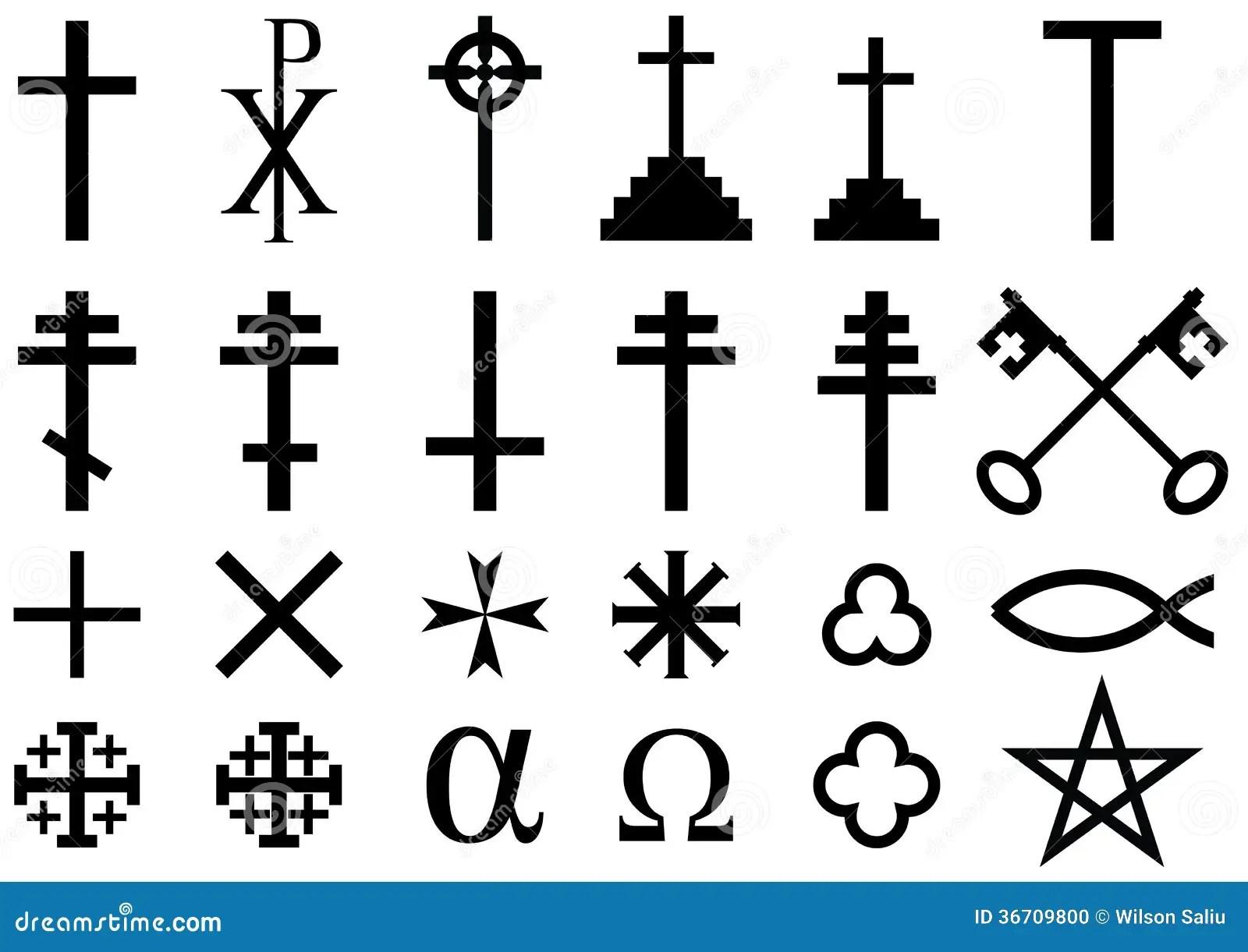 Kristna Religiosa Symboler Stock Illustrationer Illustration Av Raddning