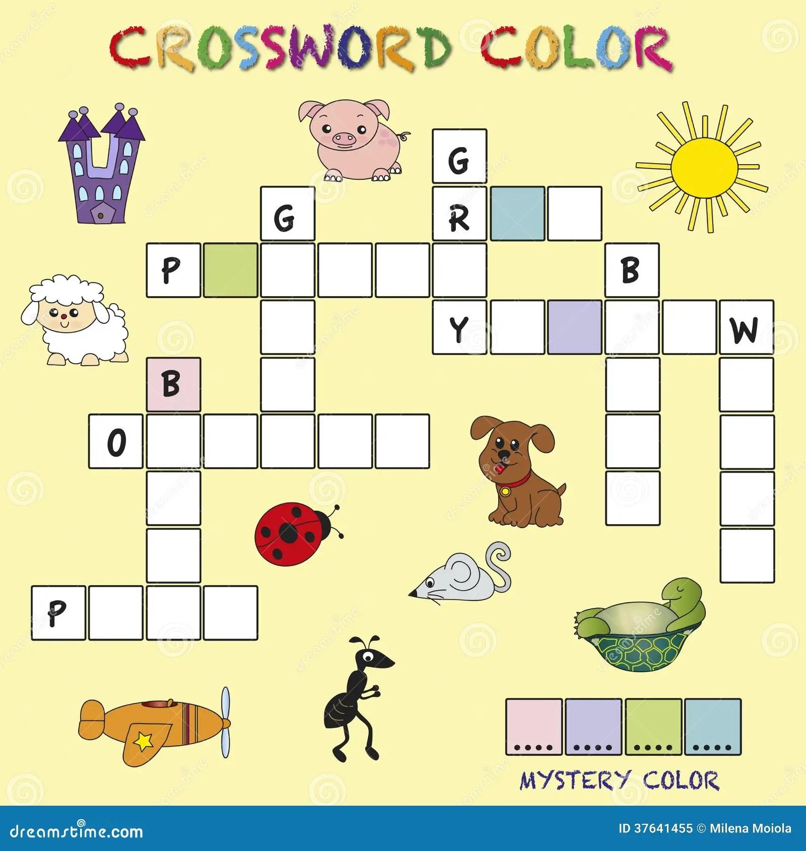 Kruiswoordraadselkleur Stock Illustratie Illustratie