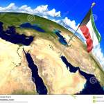 Kuwait National Flag Marking The Country Location On World Map 3d Rendering Parts Of This Image Furnished By Nasa Stock Illustration Illustration Of Itinerary Globe 92848616